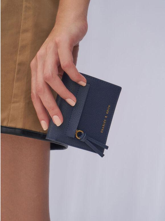 Snap Button Card Holder, Navy, hi-res