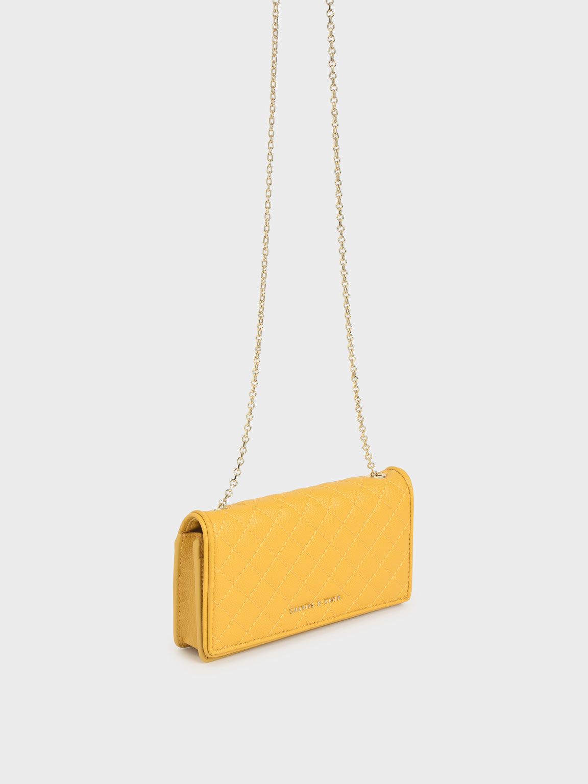 Quilted Pouch, Yellow, hi-res