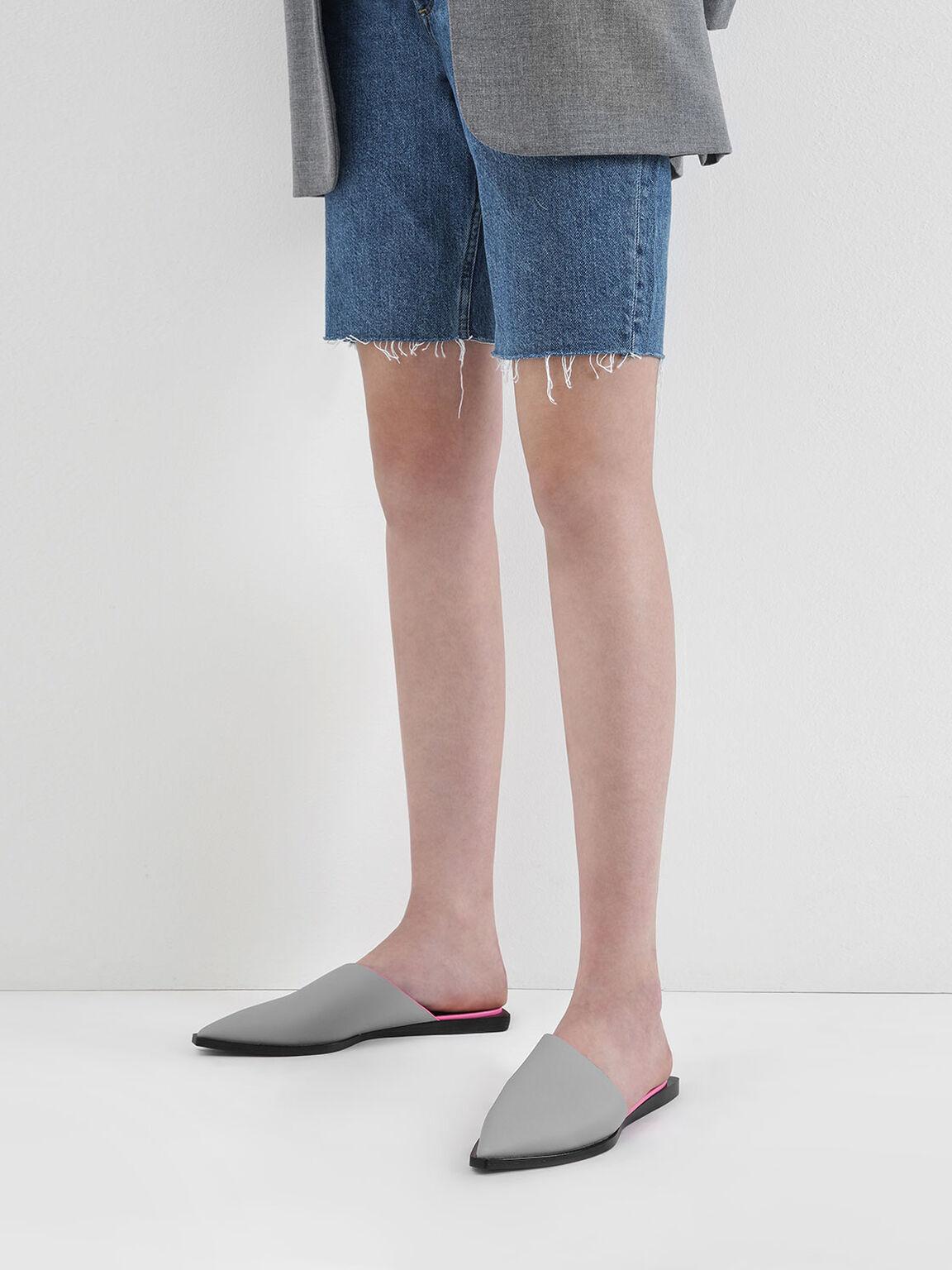 Asymmetric Mules, Grey, hi-res