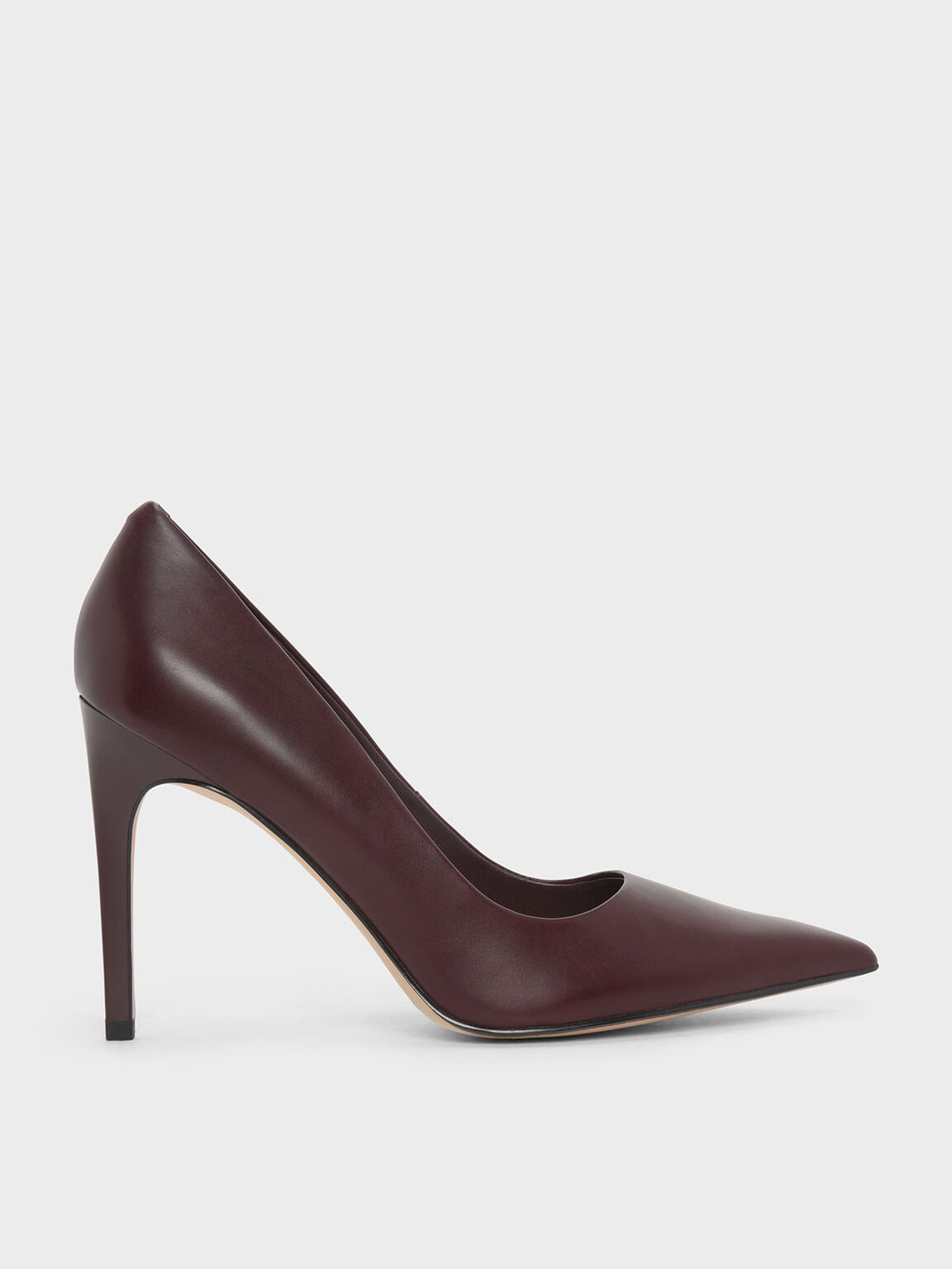Classic Pointed Pumps, Burgundy, hi-res