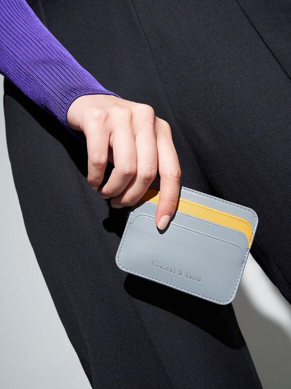 Two-Tone Multi Slot Card Holder, Steel Blue, hi-res