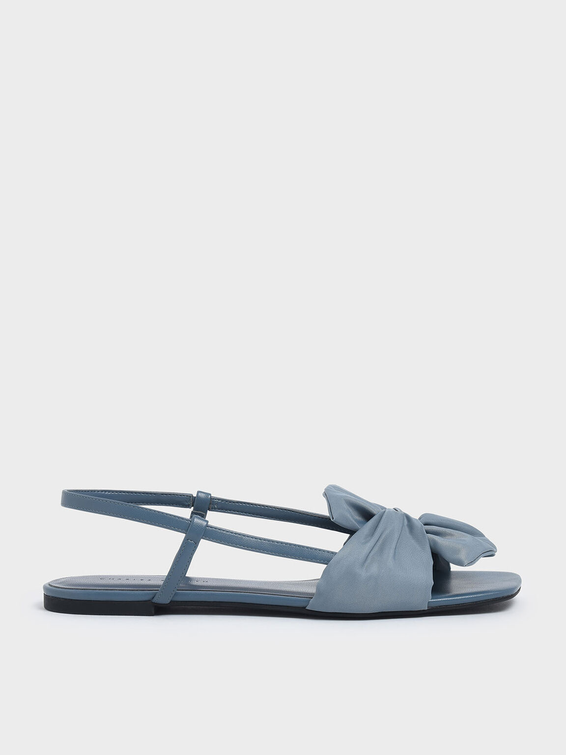 Grosgrain Bow Slingback Flats, Light Blue, hi-res
