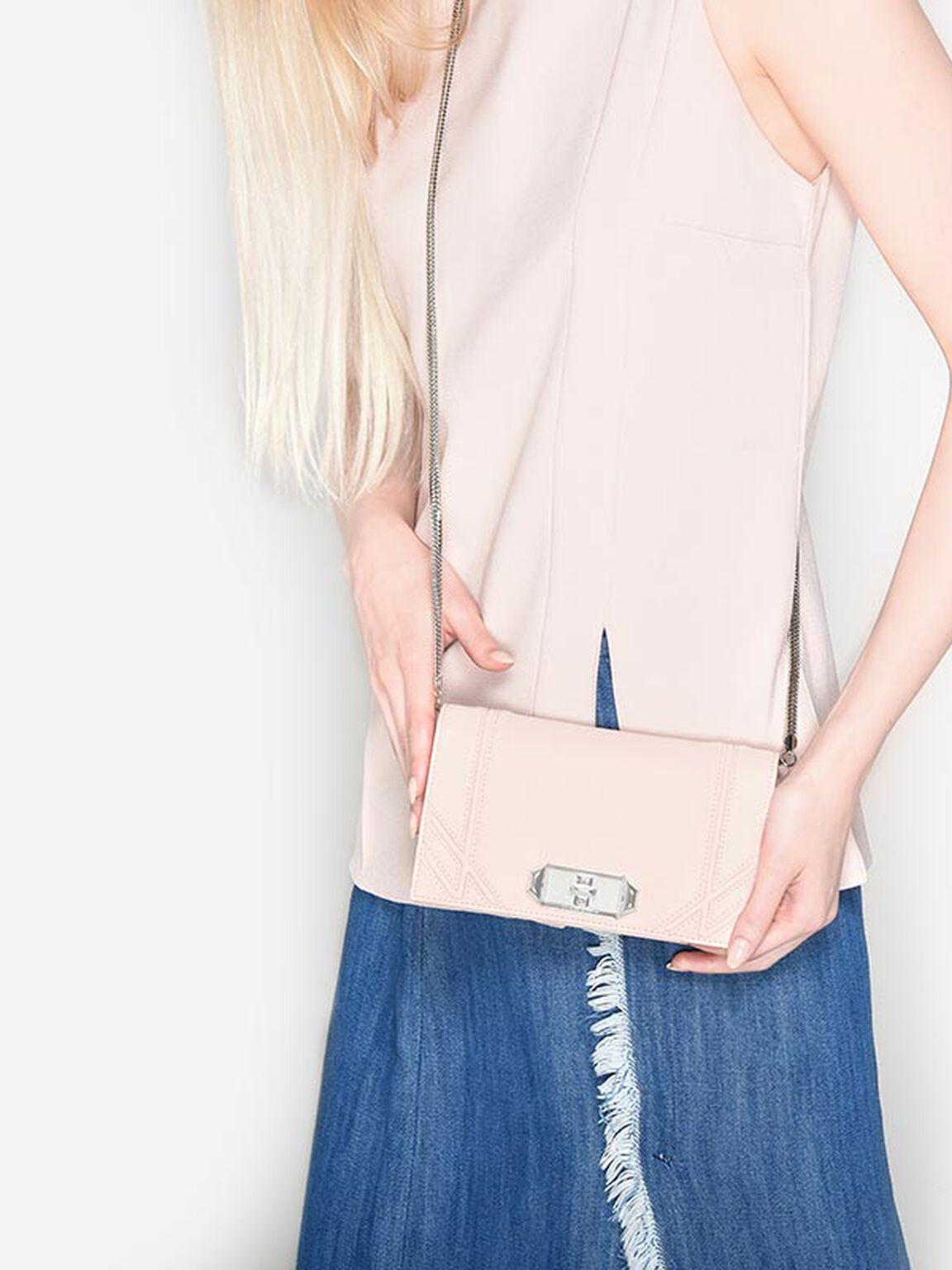立體線條手拿皮夾, 淺粉色, hi-res