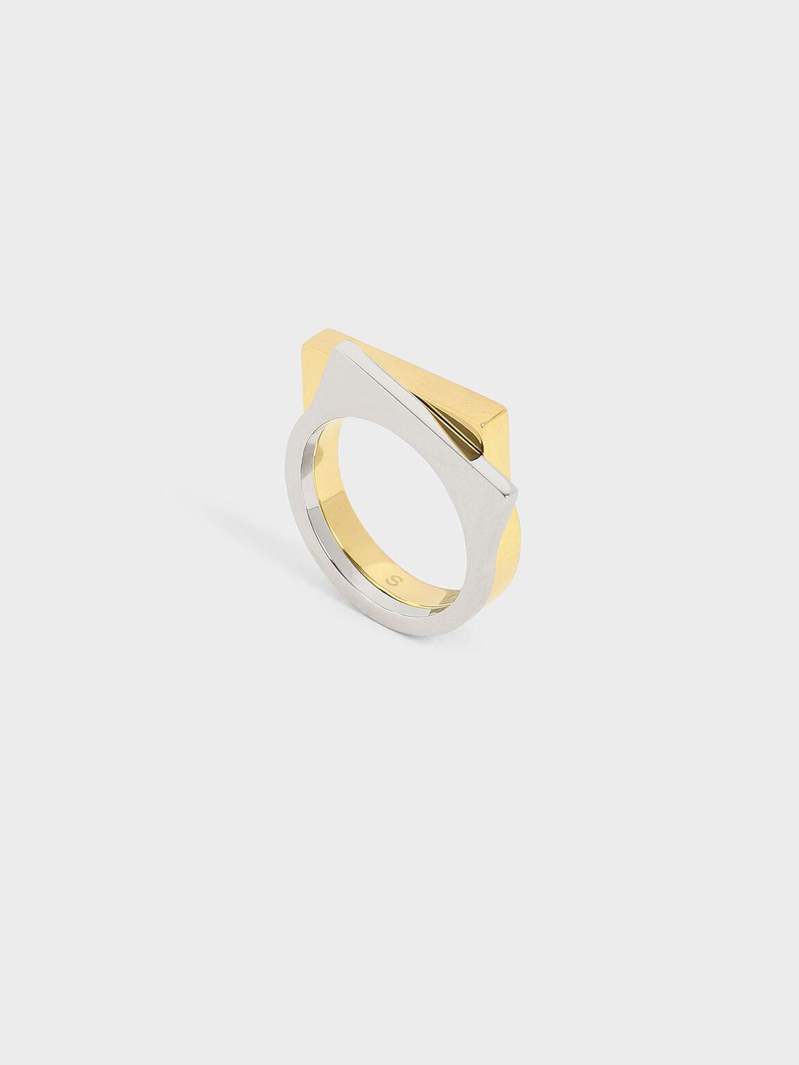 幾何寬版戒指, 混色, hi-res