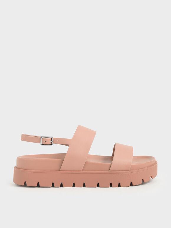 Flatform Sandals, Nude, hi-res