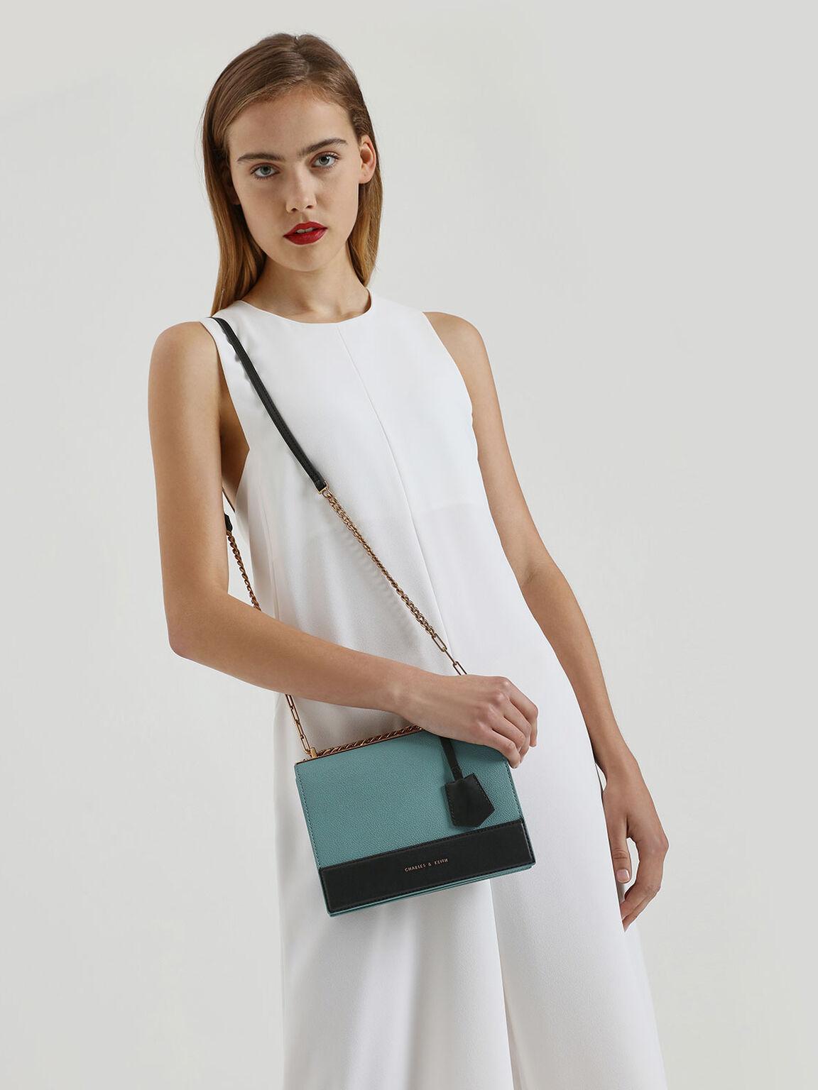 Duo Strap Crossbody Bag, Teal, hi-res