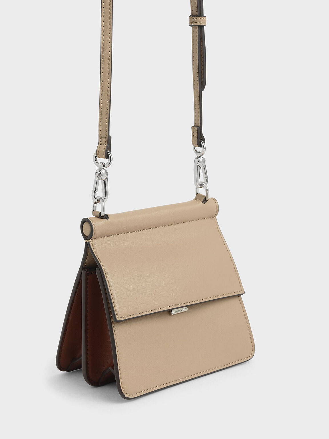 Small Acrylic Tortoiseshell Top Handle Bag, Beige, hi-res