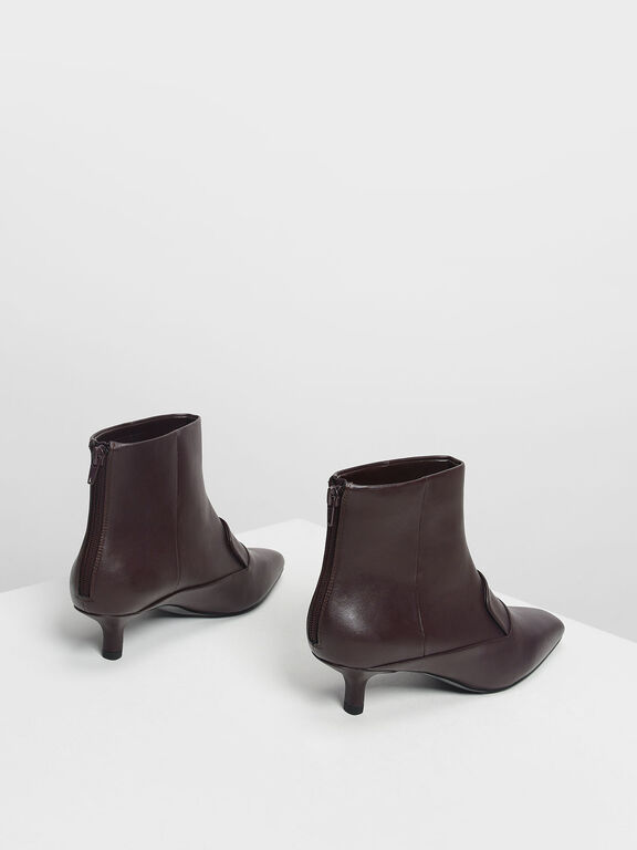 Loafer Detail Ankle Boots, Purple