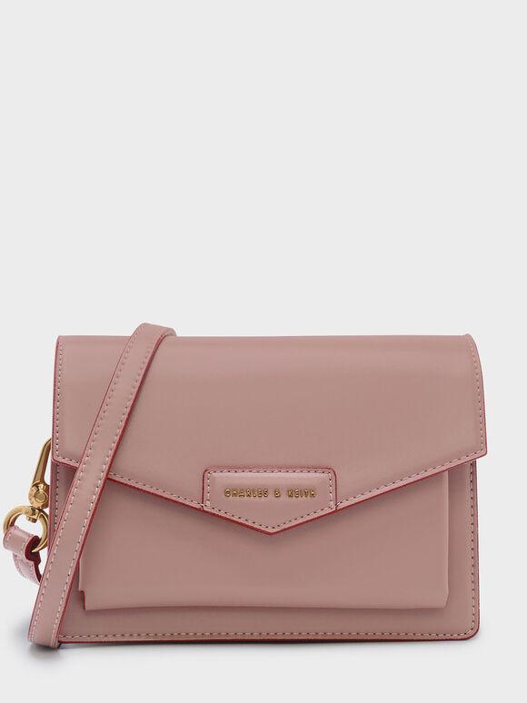 Envelope Satchel, Pink, hi-res