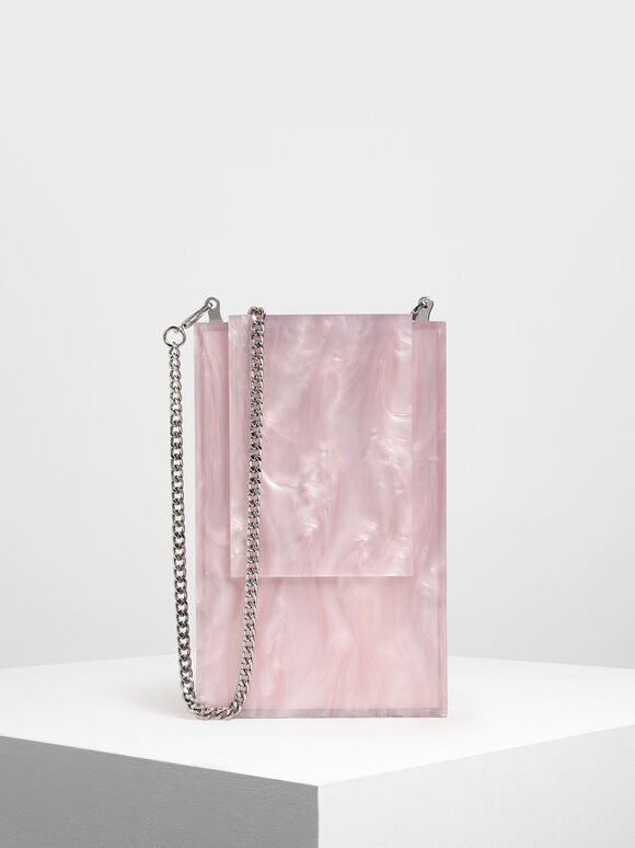 Resin Clutch, Pink, hi-res