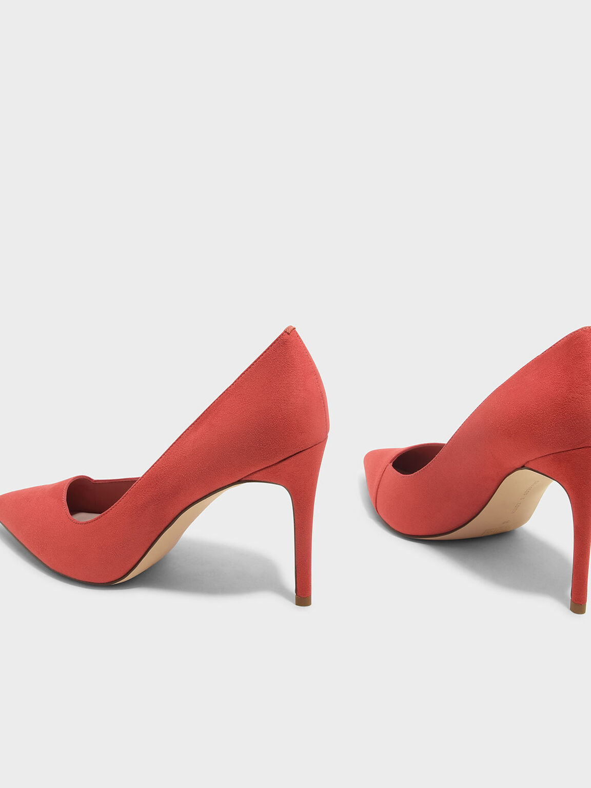 Asymmetrical Pumps, Orange, hi-res