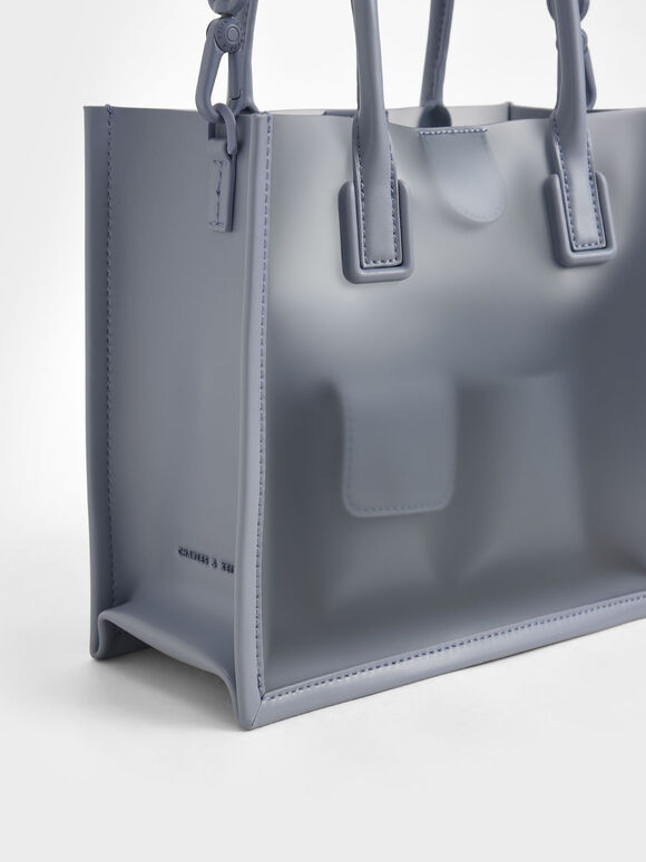 Double Handle Tote Bag, Light Blue, hi-res
