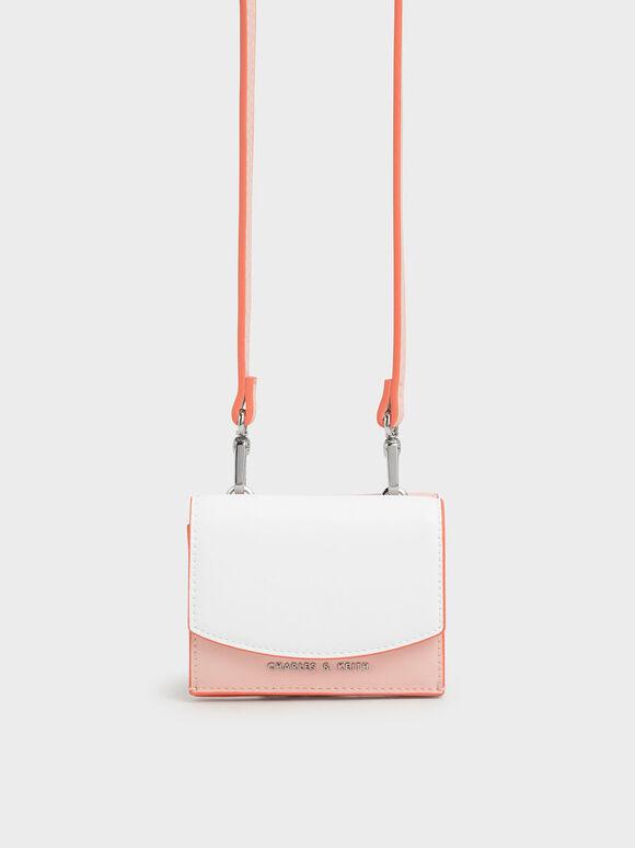 Two-Tone Mini Short Wallet, Light Pink, hi-res