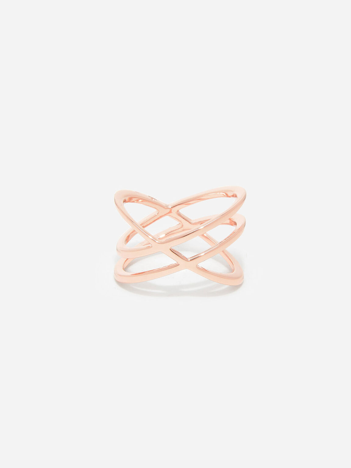 Criss Cross Ring, Rose Gold, hi-res