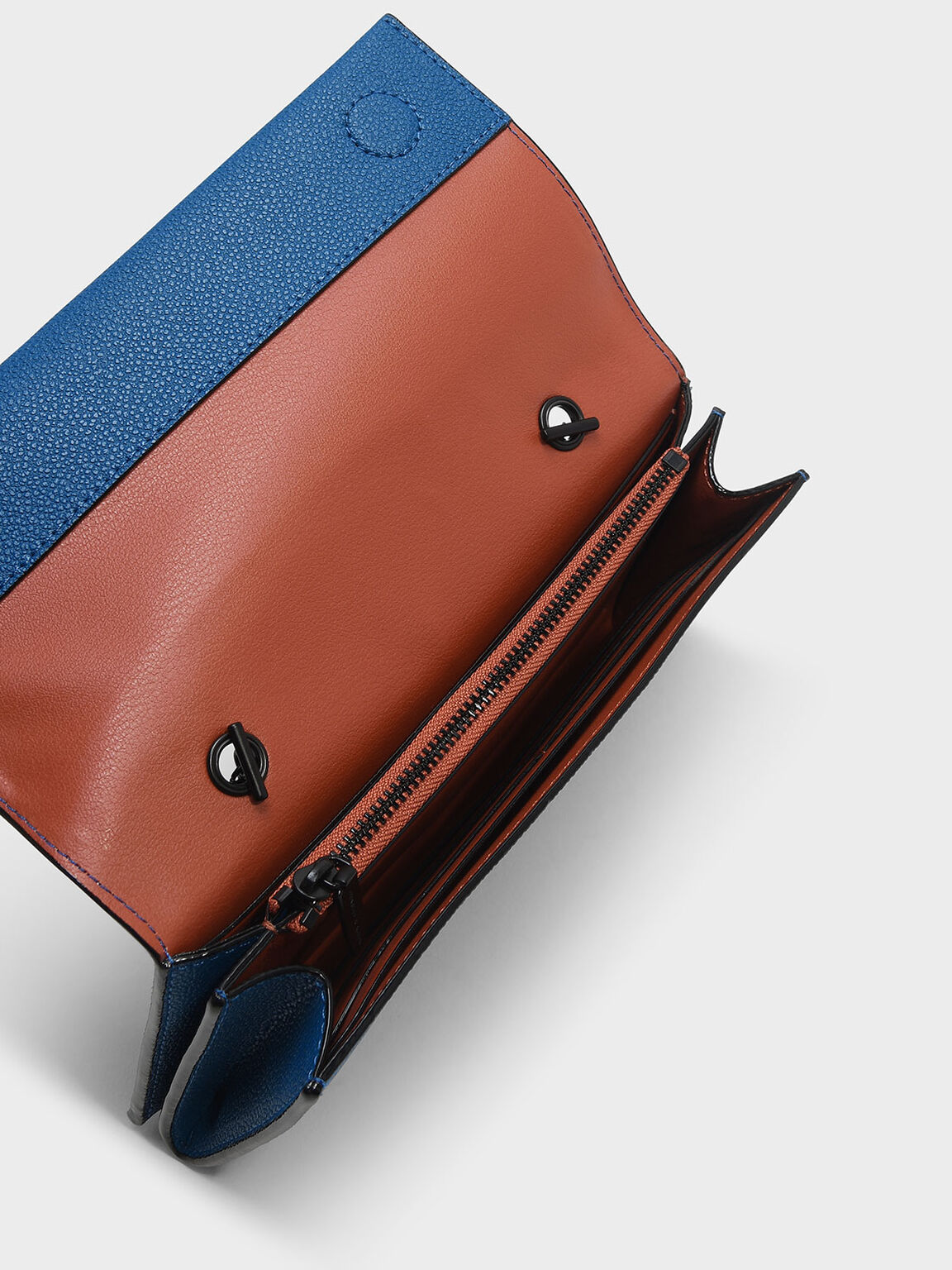 Classic Long Wallet, Blue, hi-res