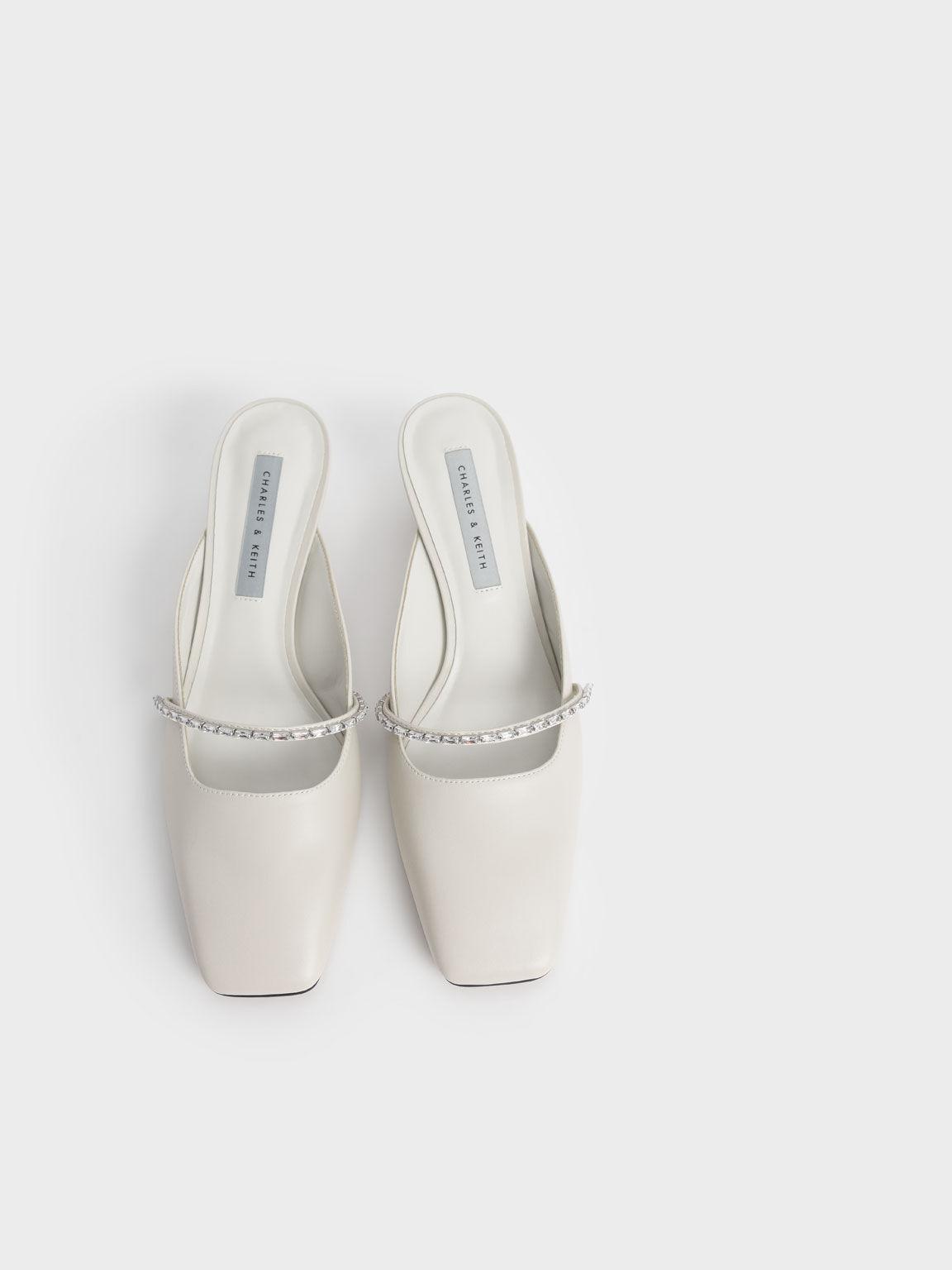 寶石瑪莉珍低跟鞋, 石灰白, hi-res
