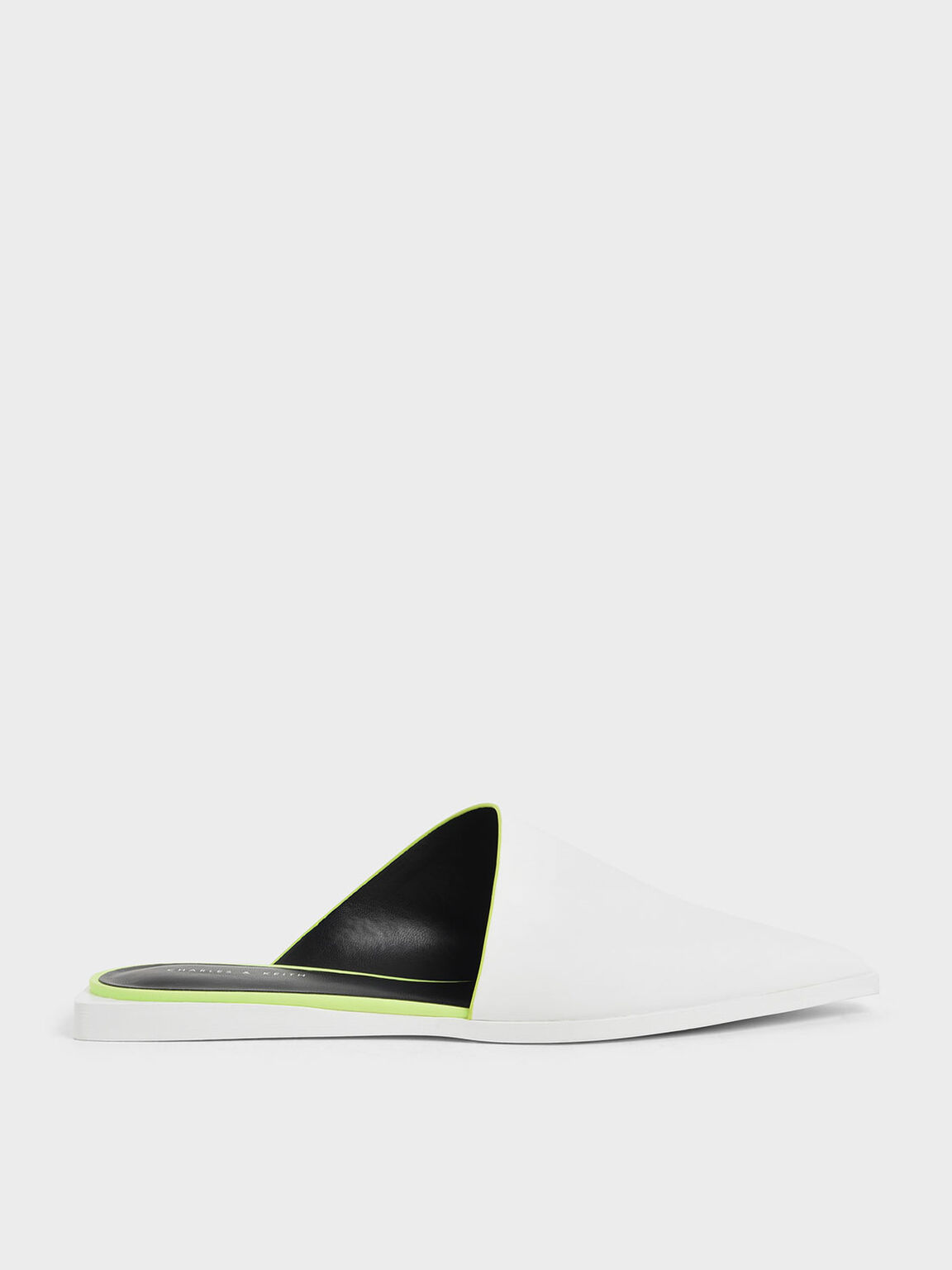 Asymmetric Mules, White, hi-res