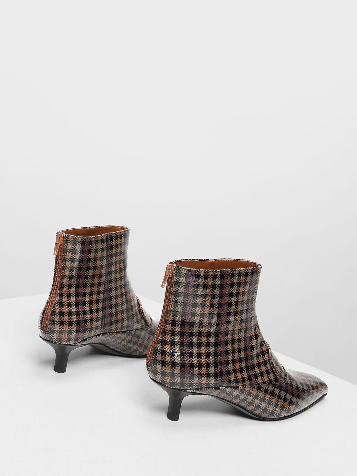 Loafer Detail Ankle Boots, Brown, hi-res