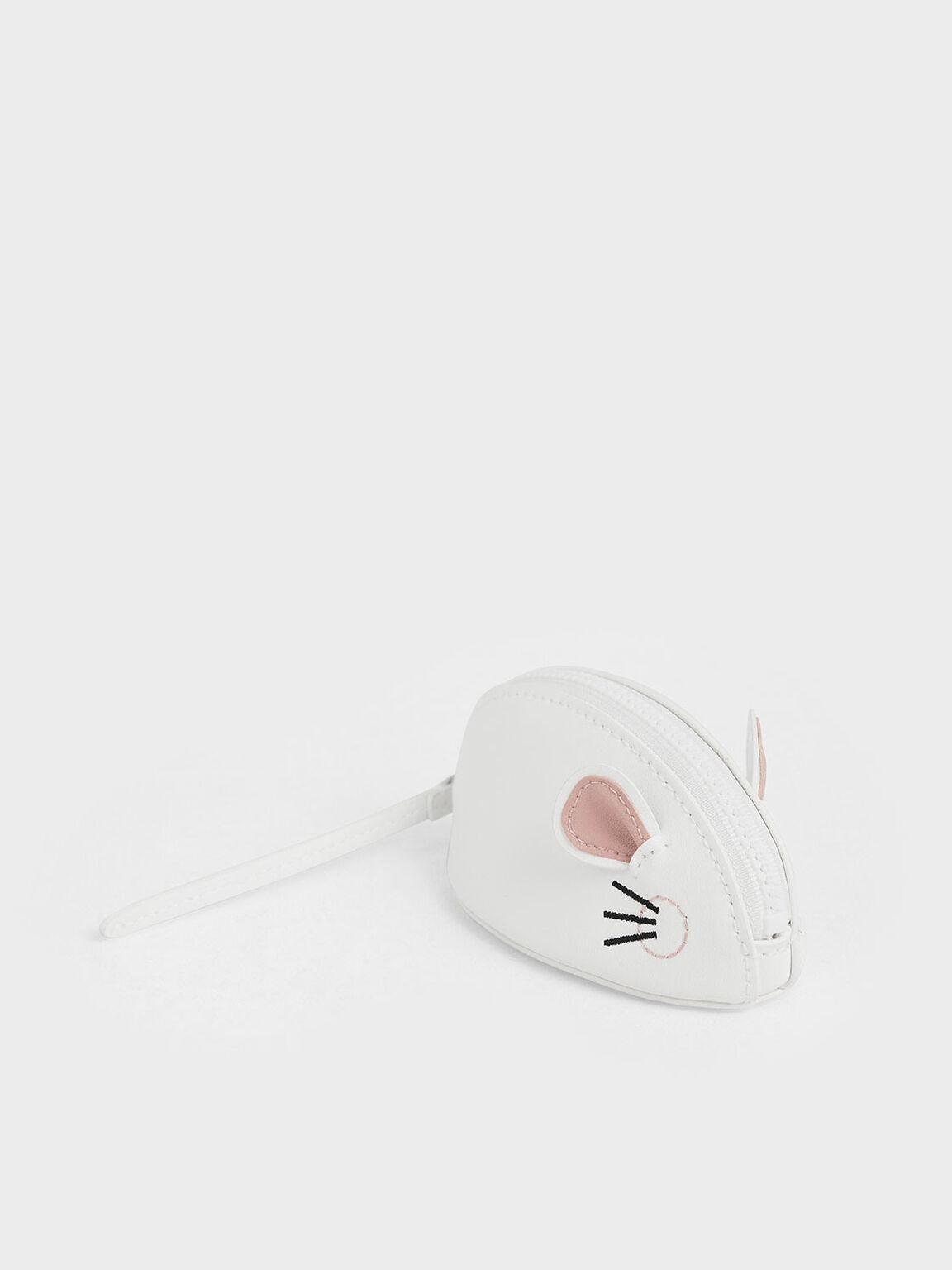 'Rat Zodiac' Mini Pouch, White, hi-res