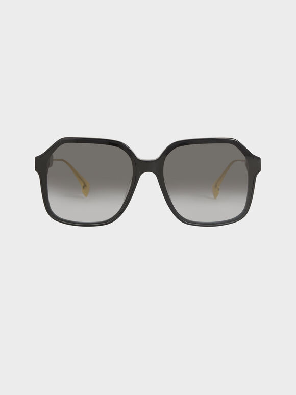 蝴蝶膠框墨鏡, 黑色, hi-res