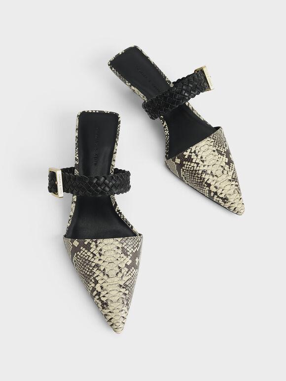 編織帶蛇紋穆勒鞋, 原色動物紋, hi-res
