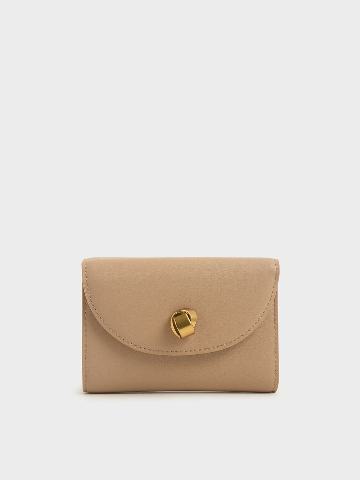 Mini Front Flap Wallet, Beige, hi-res