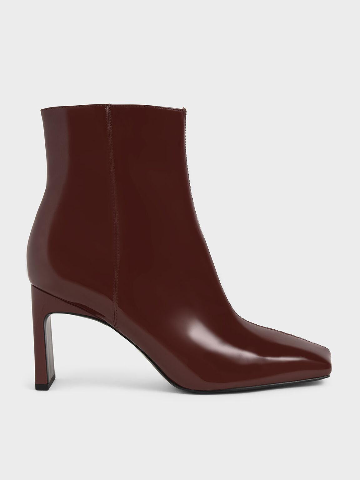 Blade Heel Ankle Boots, Cognac, hi-res