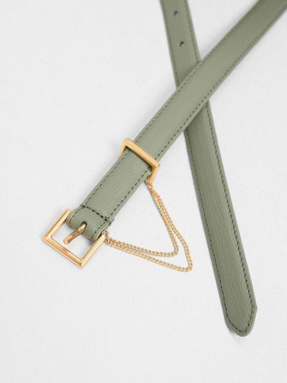 Chain Link Belt, Sage Green