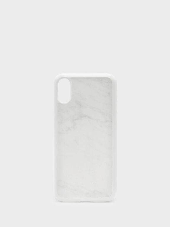 iPhone X Marble Case, White