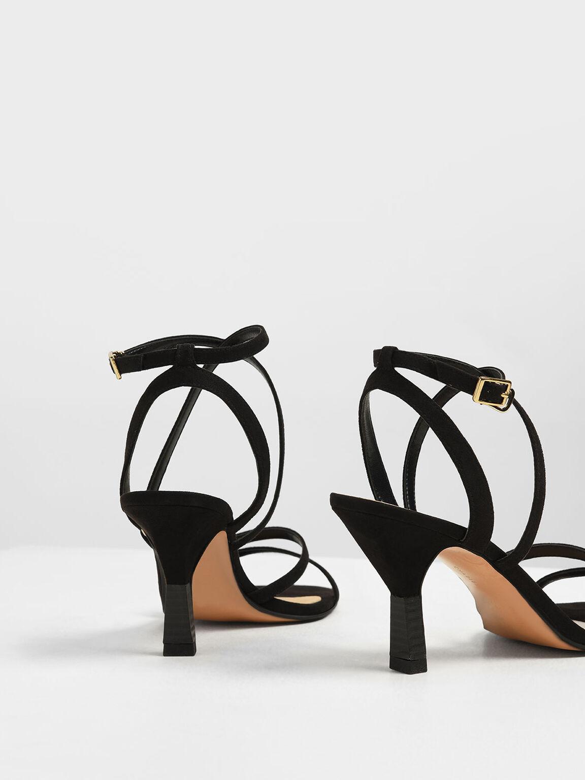 交叉繞踝涼鞋, 黑色, hi-res