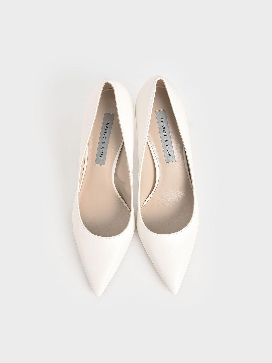 經典尖頭高跟鞋, 奶油色, hi-res