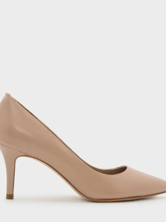 Basic Pointed Pumps, Taupe