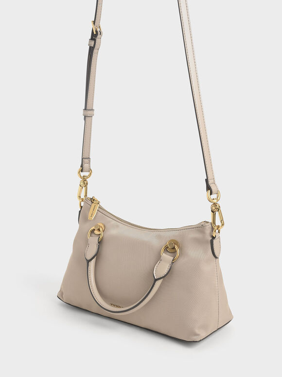 Double Handle Shoulder Bag, Sand, hi-res