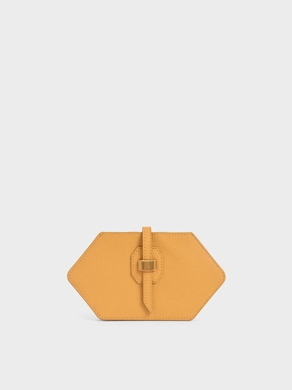 Hexagon Card Holder, Yellow, hi-res