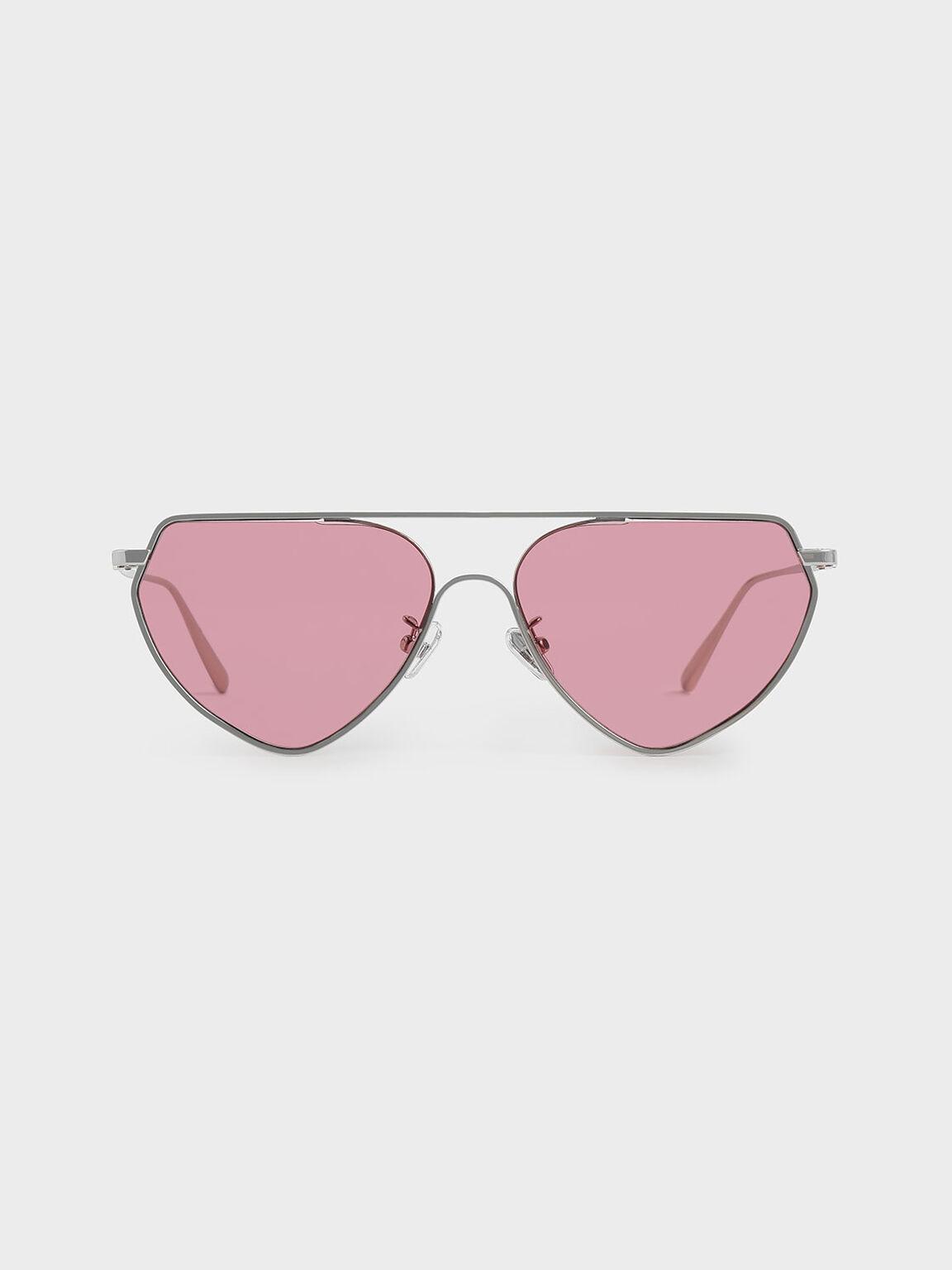 金屬框飛行員墨鏡, 粉紅色, hi-res