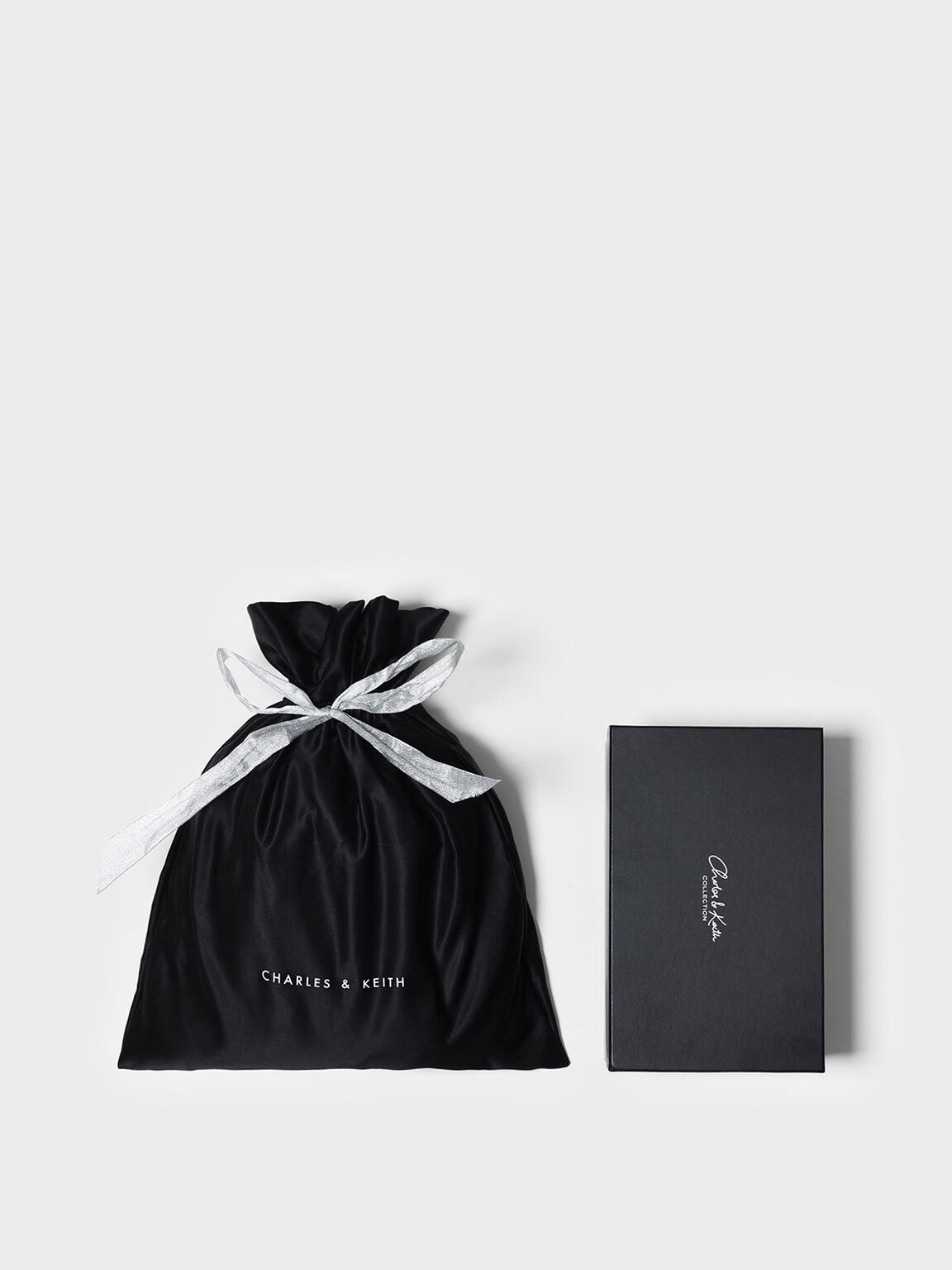 Satin Gift Bag (Medium), Black, hi-res