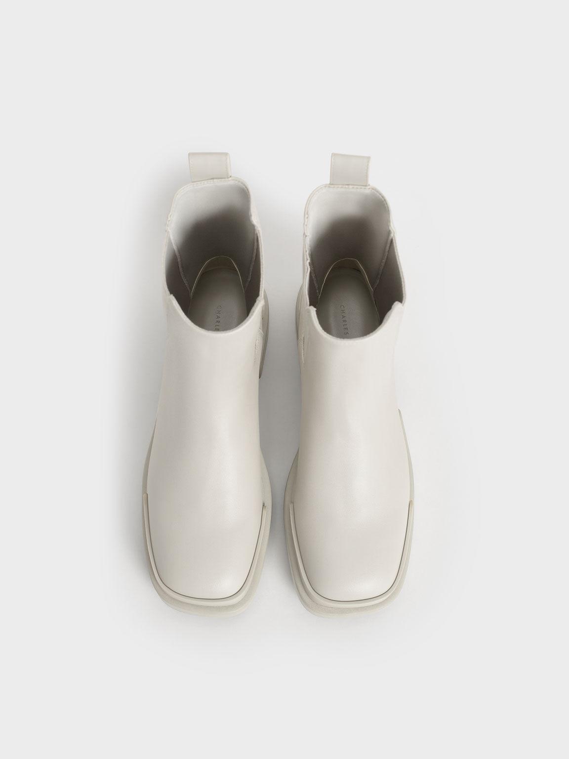 Platform Chelsea Boots, Grey, hi-res