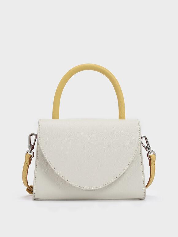 經典手提包, 白色, hi-res