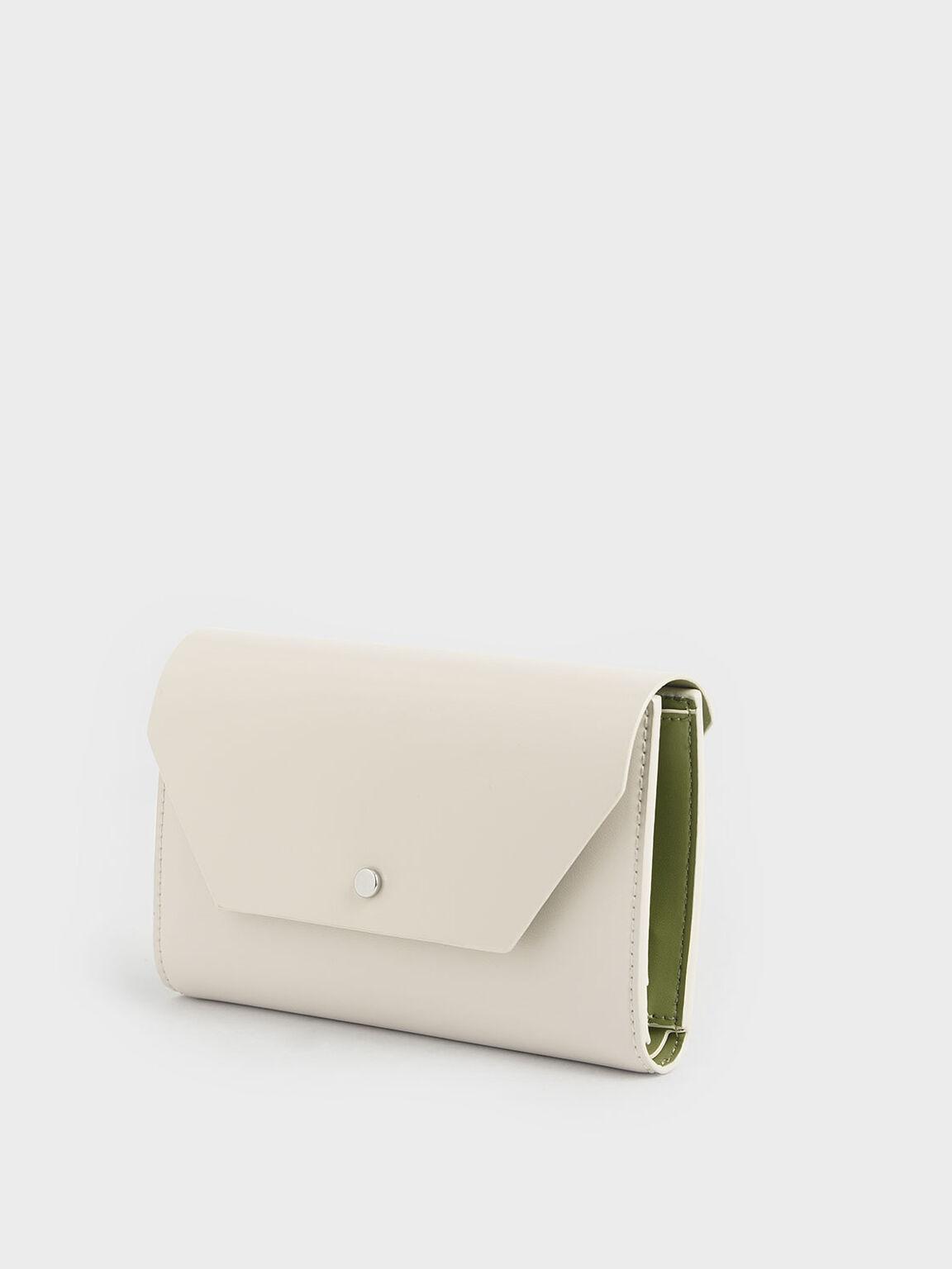 Reversible Front Flap Passport Holder, Cream, hi-res