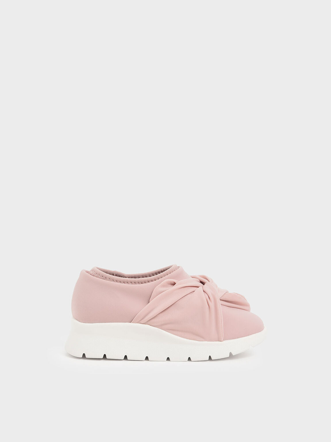 Girls' Neoprene Slip-On Sneakers, Pink, hi-res