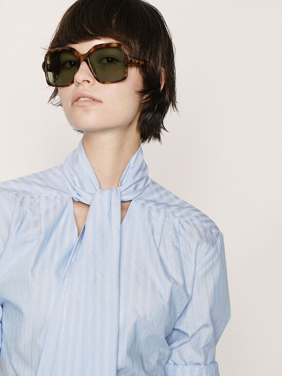 Tortoiseshell Oversized Square Sunglasses, T. Shell, hi-res