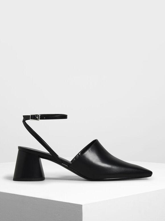Closed Toe Block Heel Sandals, Black, hi-res