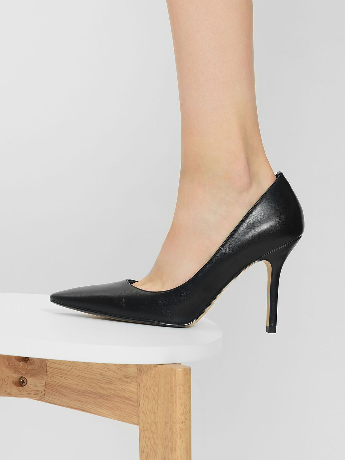 Classic Stiletto Pumps, Black, hi-res