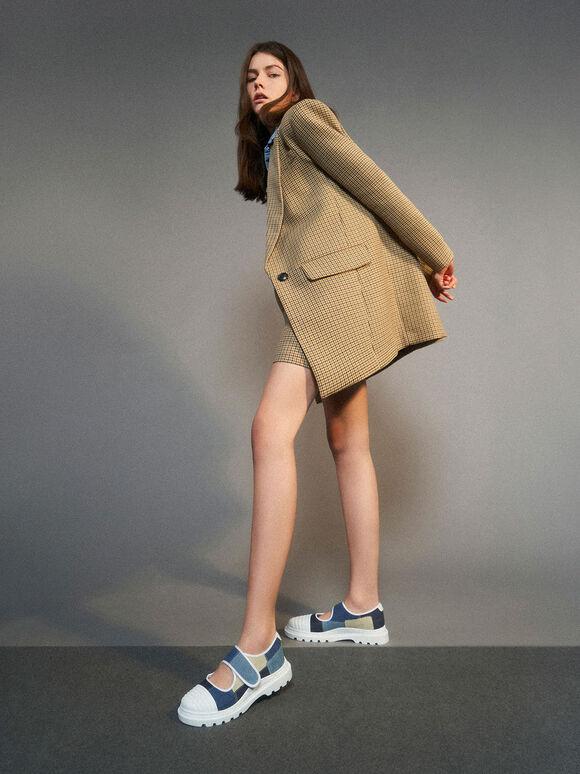 Denim Sneakers, Blue, hi-res