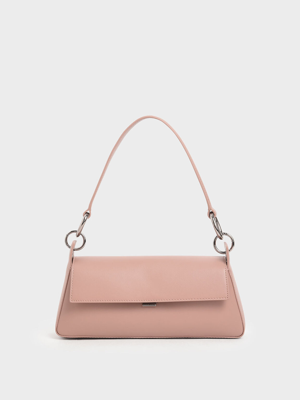 Leather Shoulder Bag, Blush, hi-res