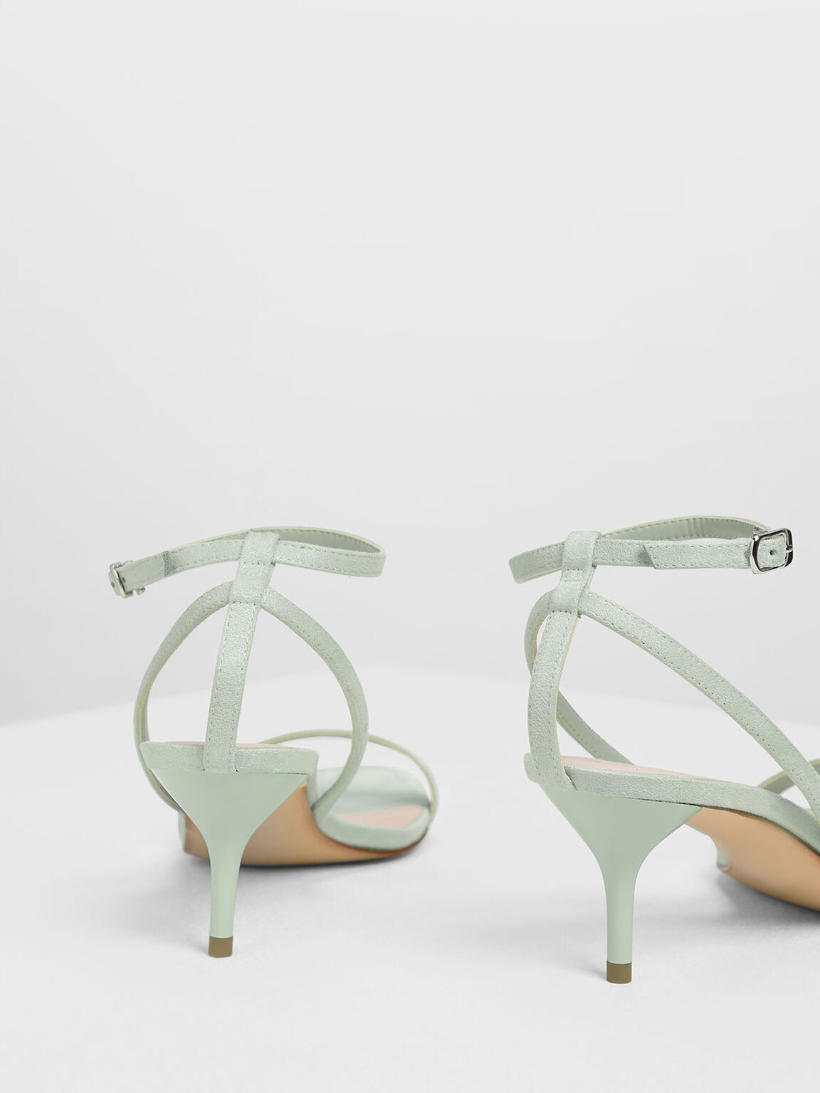 Classic Ankle Strap Sandals, Green, hi-res
