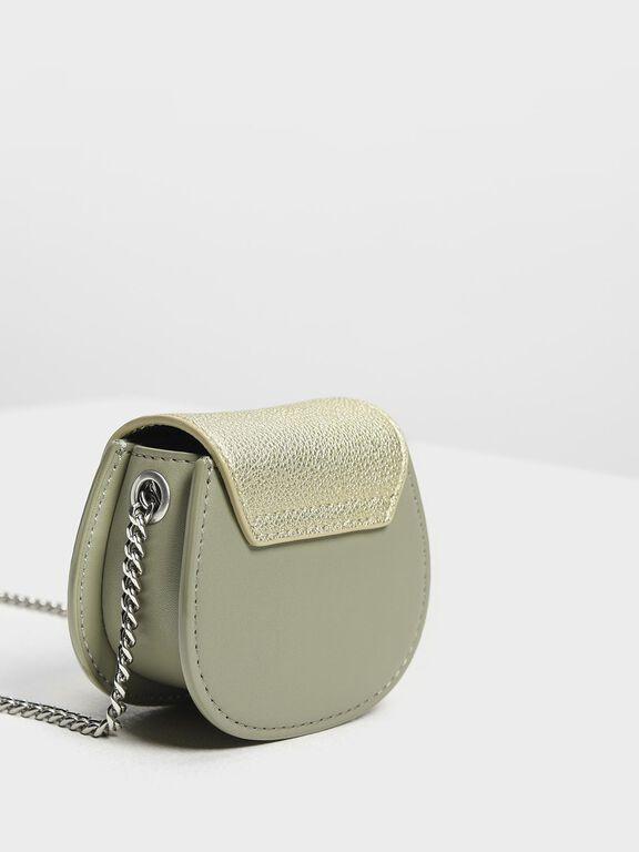 Mini Horseshoe Key Pouch, Sage Green