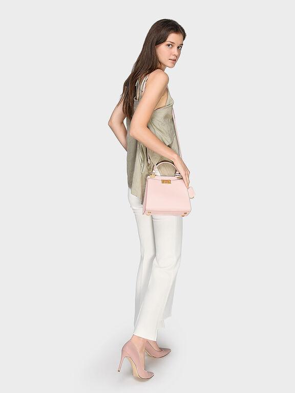 Angular Push-Lock Handbag, Pink