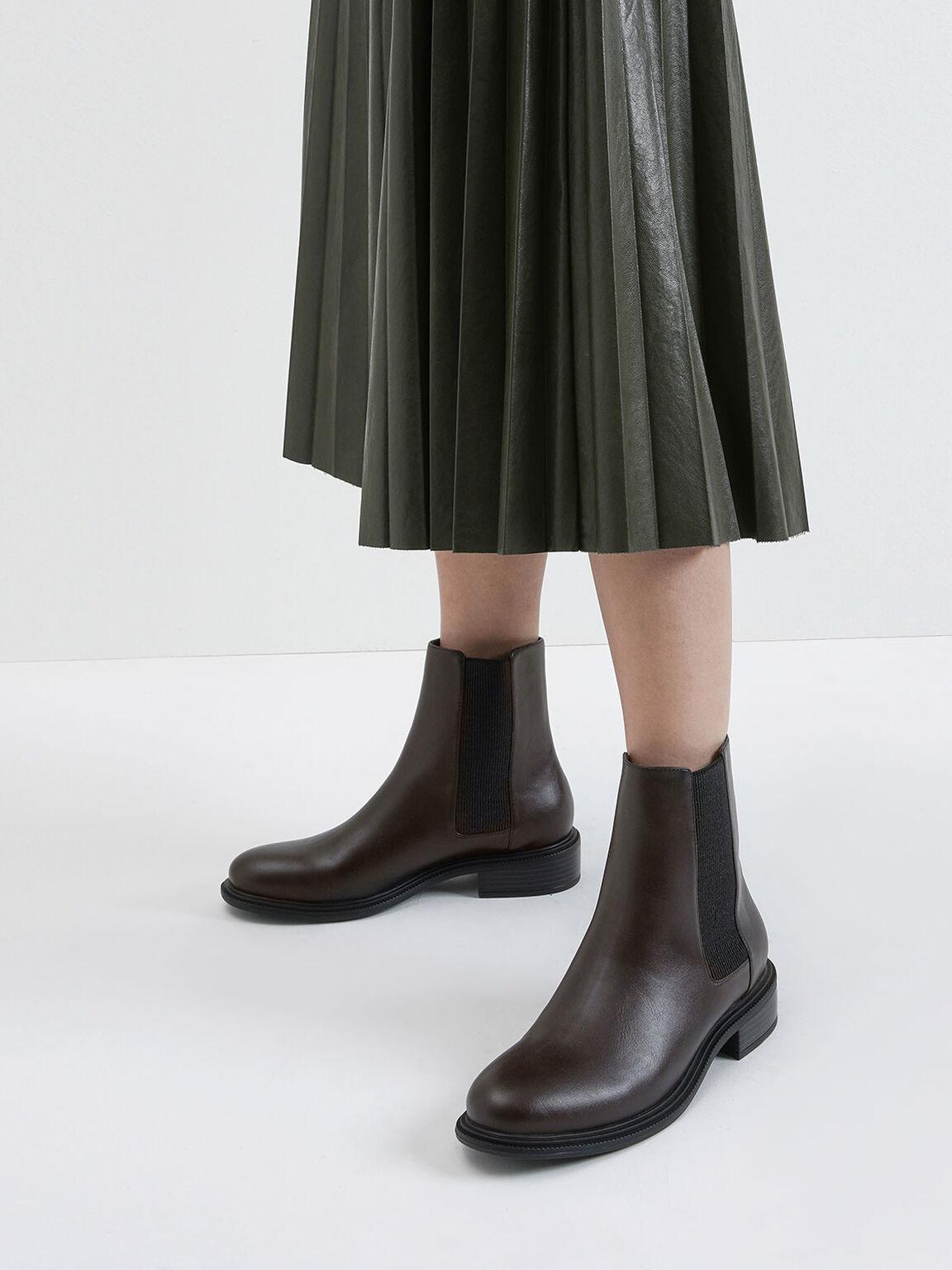 Classic Chelsea Boots, Dark Brown, hi-res