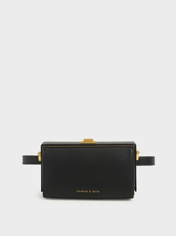 Rectangular Belt Bag, Black, hi-res